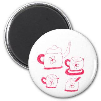 Imán del botón del tiempo del té