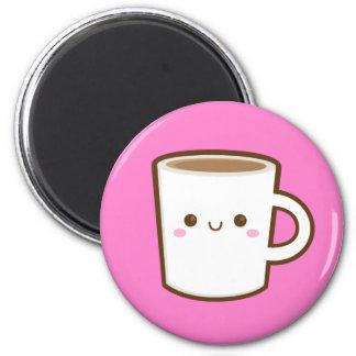 Imán del café de Kawaii