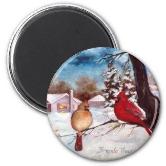 Imán del cardenal de la serenidad de los inviernos