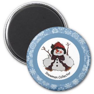 Imán del colector del muñeco de nieve