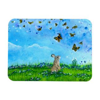 Imán del conejito y de las mariposas por Bihrle