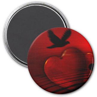 Imán del corazón de la paloma