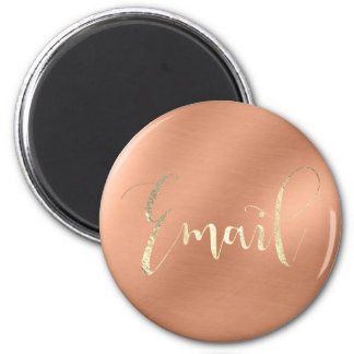 Imán Del correo electrónico oro diario del cobre del