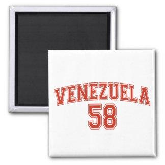 Imán del cuadrado del código de país de Venezuela