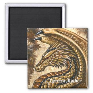Imán del cuadrado del dragón del Topaz
