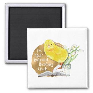 """Imán del cuadrado """"del polluelo reformado de la"""