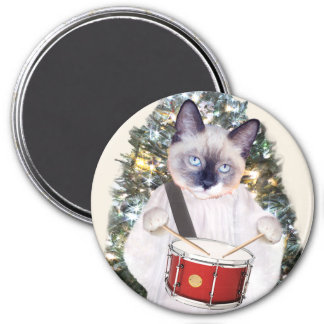 Imán del día de fiesta del villancico del gatito