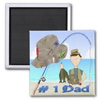 Imán del día de padre de la pesca