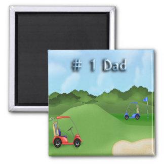 Imán del día de padre Golfing