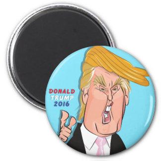 Imán del dibujo animado de Donald Trump
