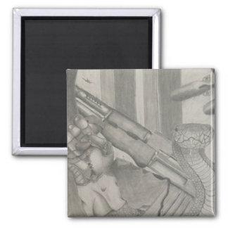 Imán del dibujo de lápiz del arma de la serpiente