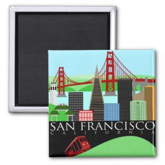 Imán del ejemplo del horizonte de San Francisco