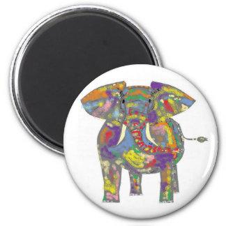 Imán del elefante del arco iris