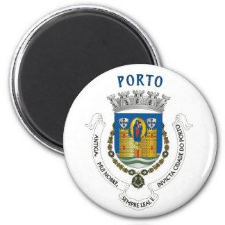 Imán del escudo de armas de la ciudad de Oporto