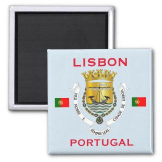 Imán del escudo de armas de Lisboa Portugal