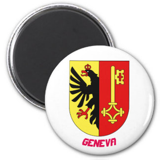Imán del escudo de Ginebra Suiza