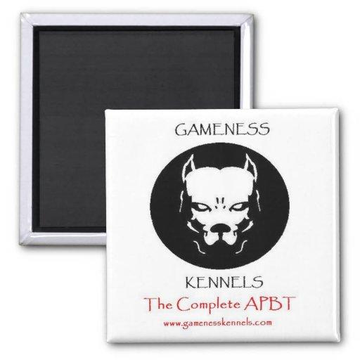 Imán del GAMENESS del logotipo de Pitbull