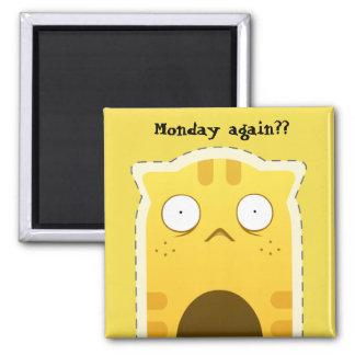 Imán del gato de lunes