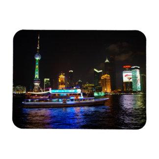 Imán del horizonte de la noche de Pudong