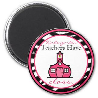 Imán del maestro de jardín de infancia del estampa