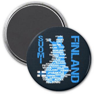 Imán del MAPA de FINLANDIA