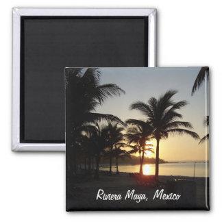 Imán del mar del Caribe de Cancun México del maya