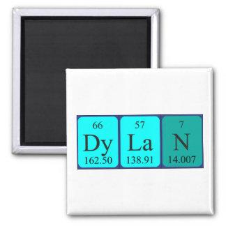 Imán del nombre de la tabla periódica de Dylan