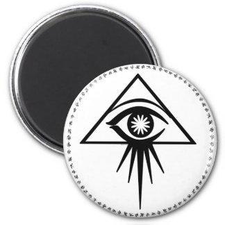 Imán del ojo del eón todo-que ve (blanco)