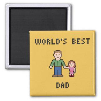 Imán del papá del mundo del pixel el mejor