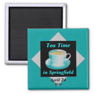 Imán del personalizable del tiempo del té