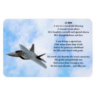 Imán del poema del hijo del avión