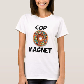 Imán del poli camiseta
