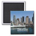 Imán del recuerdo de la foto del viaje de Seattle
