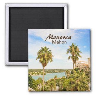 Imán del recuerdo de Menorca Mahon