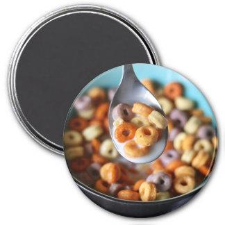 Imán del refrigerador: Cereal y leche coloreados
