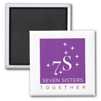 Imán del refrigerador de siete hermanas junto
