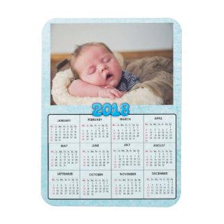Imán del refrigerador del calendario de la foto