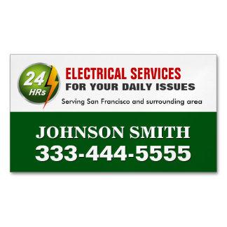 Imán del refrigerador del electricista del tarjetas de visita magnéticas (paquete de 25)