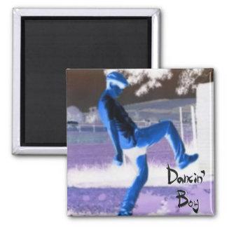 Imán del refrigerador del muchacho de Dancin