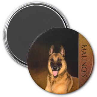 Imán del refrigerador del perro de Malinois