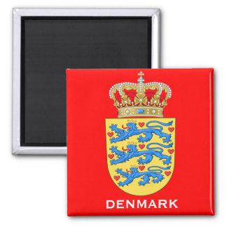 Imán del regalo del escudo de armas de Dinamarca