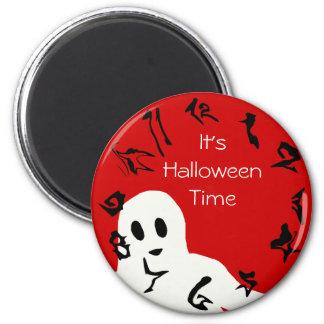 Imán del tiempo de Halloween