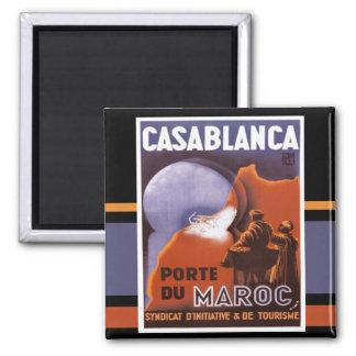 Imán del vintage del turismo de Casablanca