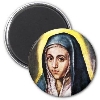 Imán del Virgen María de El Greco