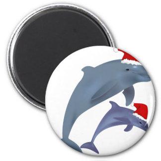 Imán Delfín del navidad