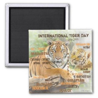 Imán Día internacional del tigre, el 29 de julio, arte