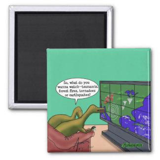 Imán Dibujo animado de la parodia de los dinosaurios