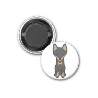Imán Dibujo animado del perro de Lapinporokoira
