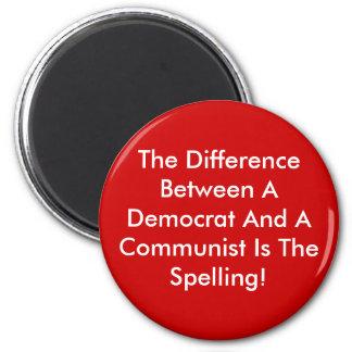 Imán Diferencia entre un Demócrata y un comunista