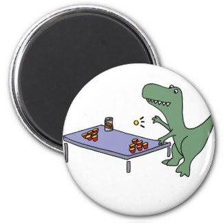 Imán Dinosaurio divertido de T-rex que juega la cerveza